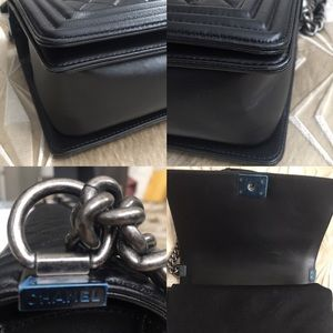 CHANEL Bags - Authentic Black Chanel Boy Bag FULL SET